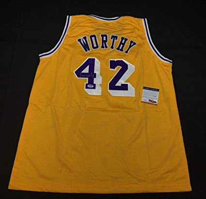 db29c542ec5 Image Unavailable. Image not available for. Color: Autographed James Worthy  Jersey ...
