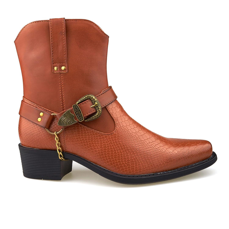 London Footwear Stivali Western Uomo, Marrone (Tan), 43 EU