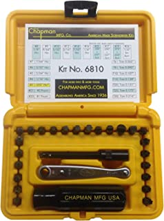 product image for Chapman MFG 6810 Standard +Star Screwdriver Set - 27 Pieces - Includes Standard Allen Hex, Star, Phillips & Slotted Bits, Complete Set Offers 24 USA Made Insert Bits (Yellow Hard Case)