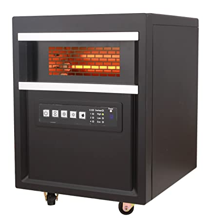 Comfort Glow QDE1345 Infared Quartz Comfort Heater, 5120 BTU s, Chestnut