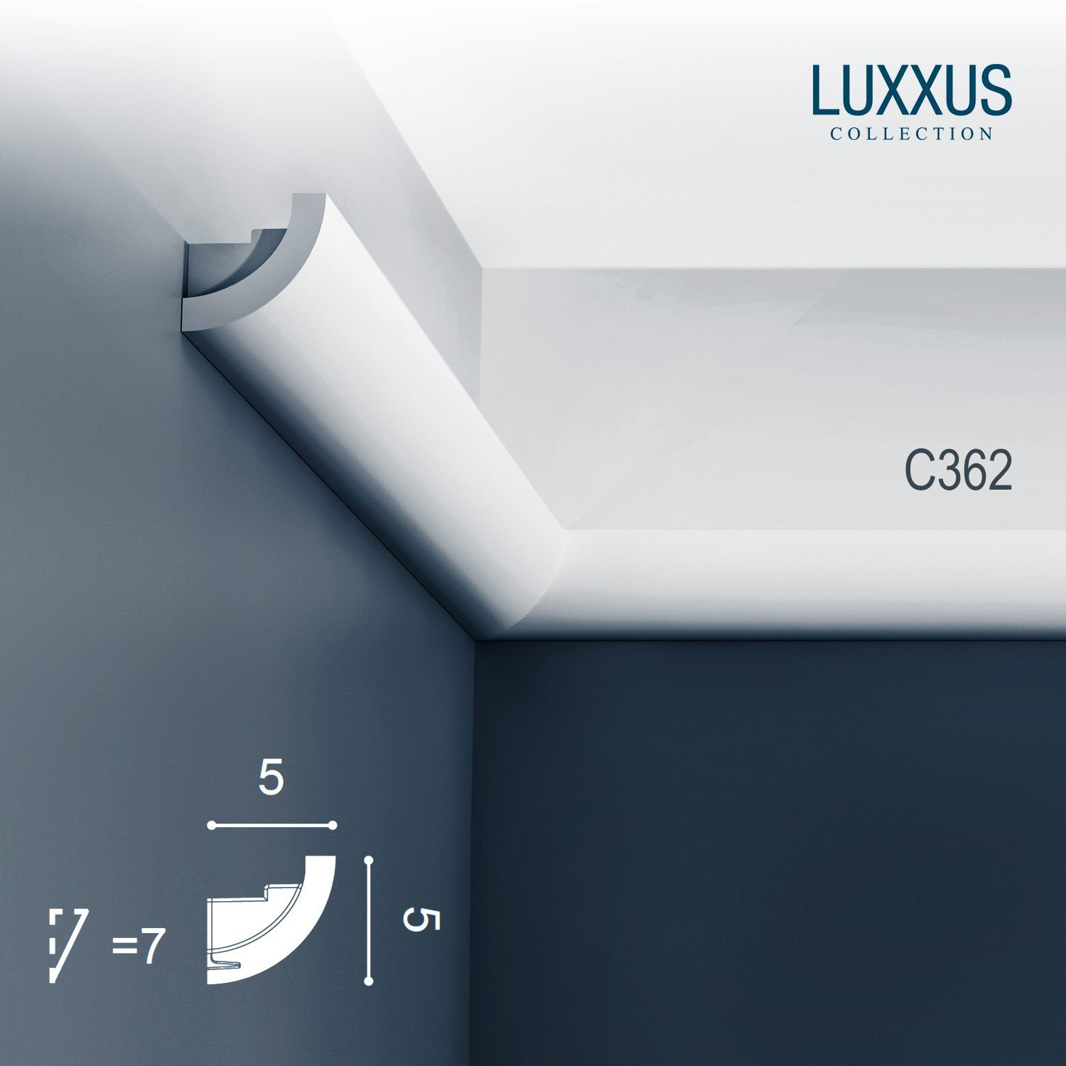 Orac Decor C362 LUXXUS Cornice Moulding Indirect Lighting System Ceiling Coving Decoration