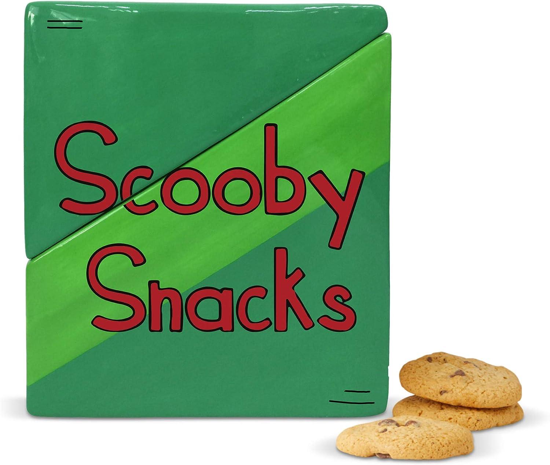 Enesco Scooby Doo Ceramics Snacks Box Cookie Jar, 8 Inch, Green
