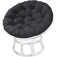 UV Resistant Round Chair Cushion Papasan Cushion Only Chair Pillow Oversized and Removable, Suitable for Outdoor Garden…