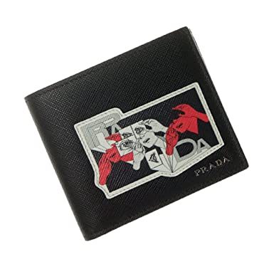 4cab54bd5eee Amazon.co.jp: [PRADA(プラダ)] メンズ二つ折り財布(小銭入れ付き ...