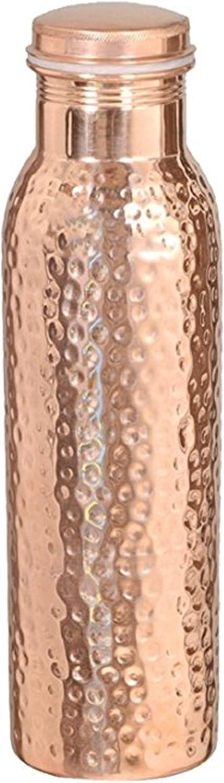 martillado 900/ml Qubic Inc Botella de agua de cobre puro para beneficios para la salud Ayurveda