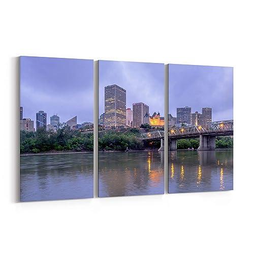 Amazon Com Edmonton Skyline Canvas Edmonton Canvas Art