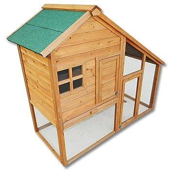 Conejera gallinero caseta roedores animales pequeños corredor abierto jardín: Amazon.es: Jardín