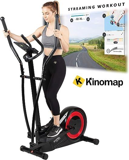 Care Regulación motorizada de la Bicicleta elíptica CE-665 by 21 programas - Fitness Completo - Función ergómetro: Amazon.es: Deportes y aire libre