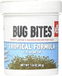 Fluval Bug Bites Tropical Formula for Small Fish 4.8oz (3 x 1.6oz)
