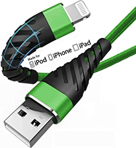 Short iPhone Charger Cable 6 inch for [Apple MFi Certified],(2 Pack) CyvenSmart Lightning Cable Fast Charging Cord for iPhone 11/11 Pro/11 Pro Max/XS/XS Max/XR/X/8/8 Plus/7/7 Plus-Green