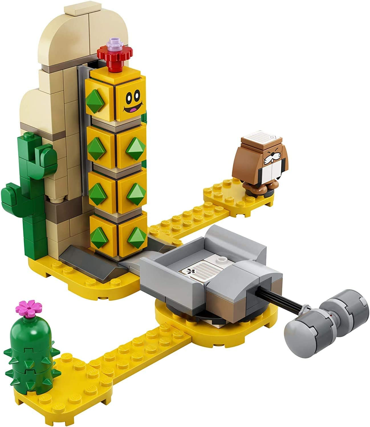 180 Pieces Playset New 2020 71360 LEGO Super Mario Desert Pokey Expansion Set 71363 Building Kit; Toy for Creative Kids to Combine with The Super Mario Adventures with Mario Starter Course