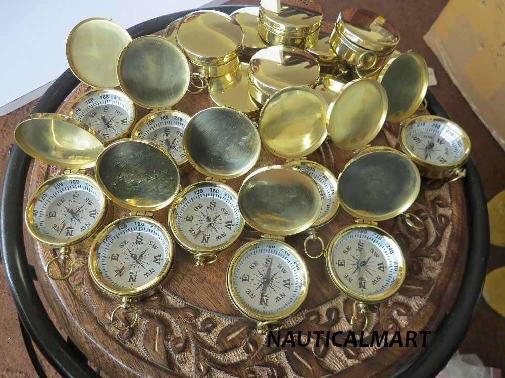 Wholesale Lot 100 Brass Fully Functional 37mm Compass
