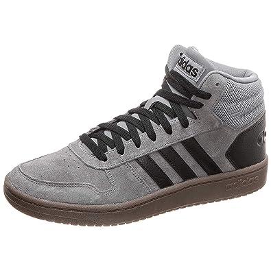 Adidas Hoops 2.0 Medio, Zapatos Da Basket Hombre - Gris, 40 2/3 EU ...