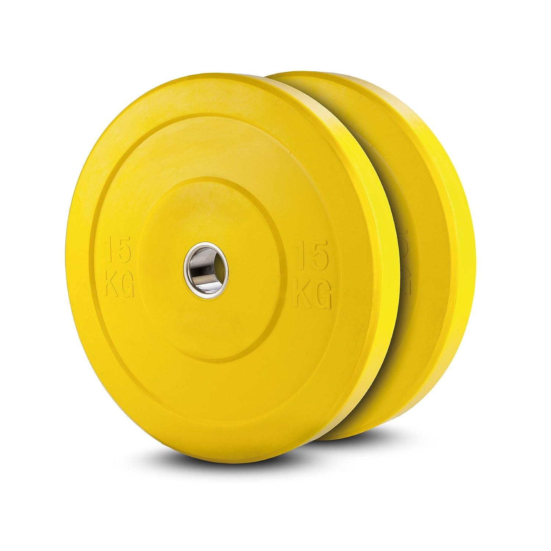 Lex Quinta Bumper Plate 2x15kg GELB - Hantelscheiben für 50mm Hantel Stangen