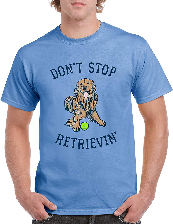 Ne Pas Arrêter retrievin tshirt t-shirt Tee Golden Retriever Chien Mignon Pun Drôle