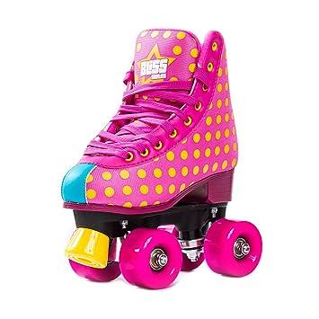 Patines sobre ruedas para mujer, edición Rockstar, de Bliss. Para interior o exterior. Tallas: 31 - 42, rosa, 42: Amazon.es: Deportes y aire libre