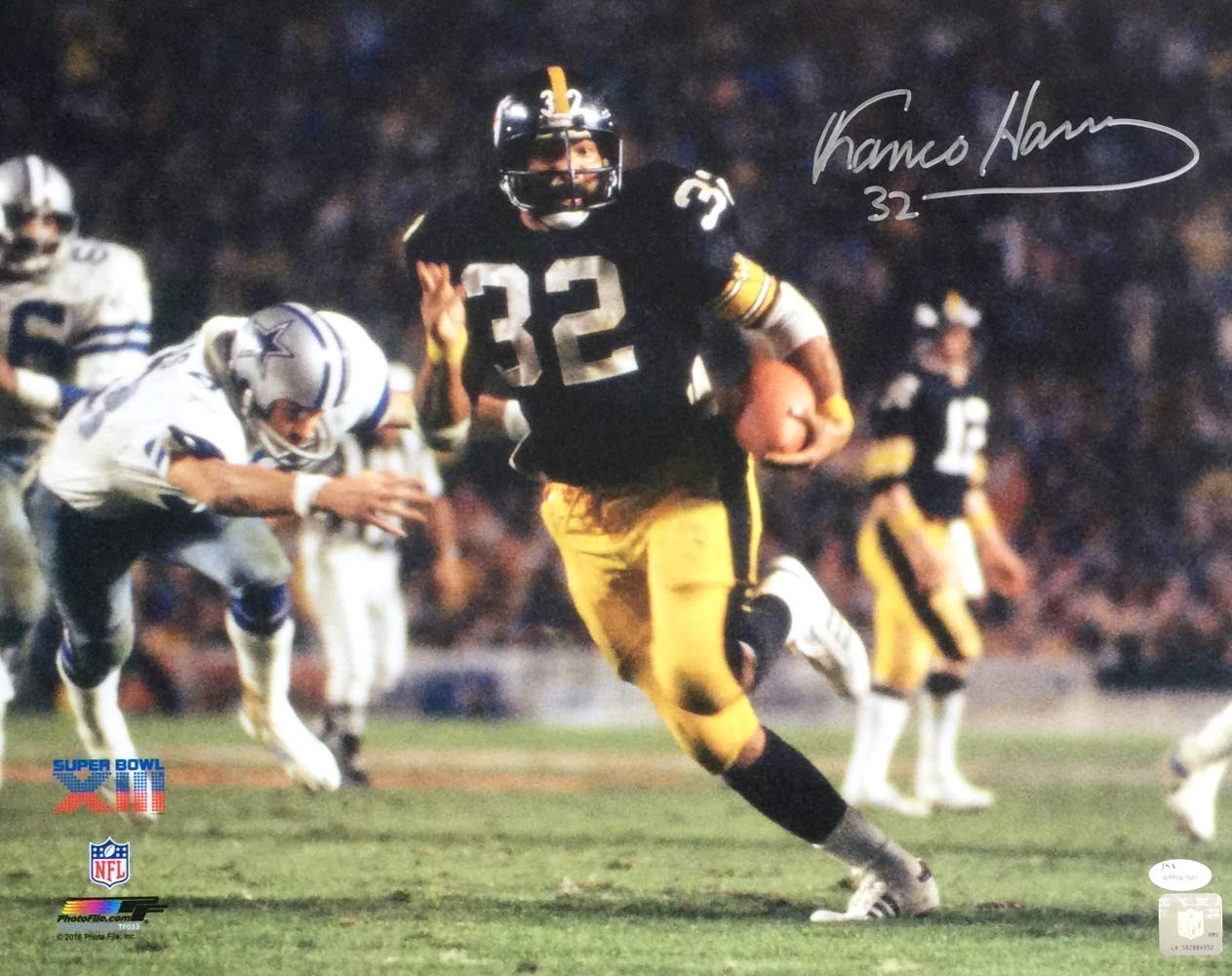 b3479b36e Franco Harris Signed 16x20 Pittsburgh Steelers Super Bowl XIII Photo JSA at  Amazon s Sports Collectibles Store