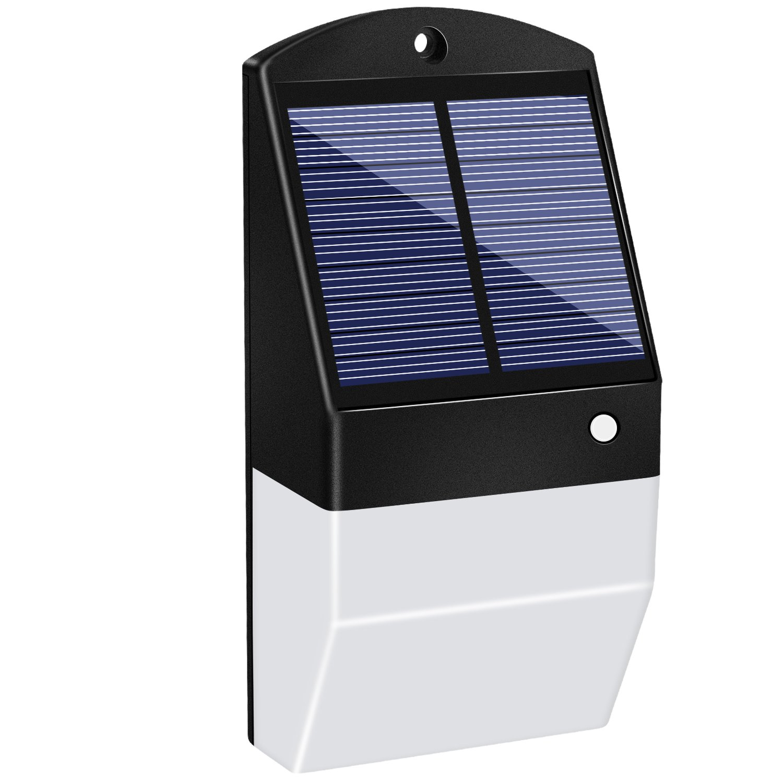 Super Bright Solar Lights Outdoor Water Proof, 25 LED 1500mAh Solar Powered Lights, Wireless Radar Motion Sensor Lights, Outdoor Security Wall Lights for Path Yard Driveway Garage Patio Garden, 1 Pack