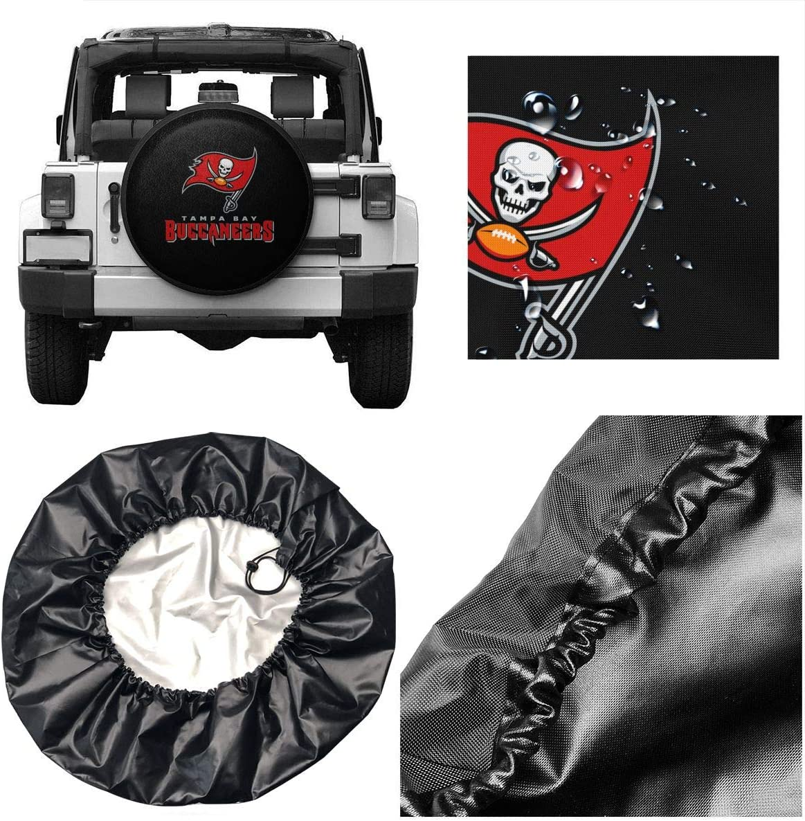 MamaTina Design Waterproof Tire Cover Washington Redskins American Football Team Weatherproof Dust-Proof Universal Spare Wheel Tire Cover Fit for Jeep,Trailer SUV RV Truck