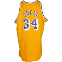 $339 » Shaquille O'Neal Autographed Signed Yellow Los Angeles Mitchell & Ness Basketball Jersey BAS ITP