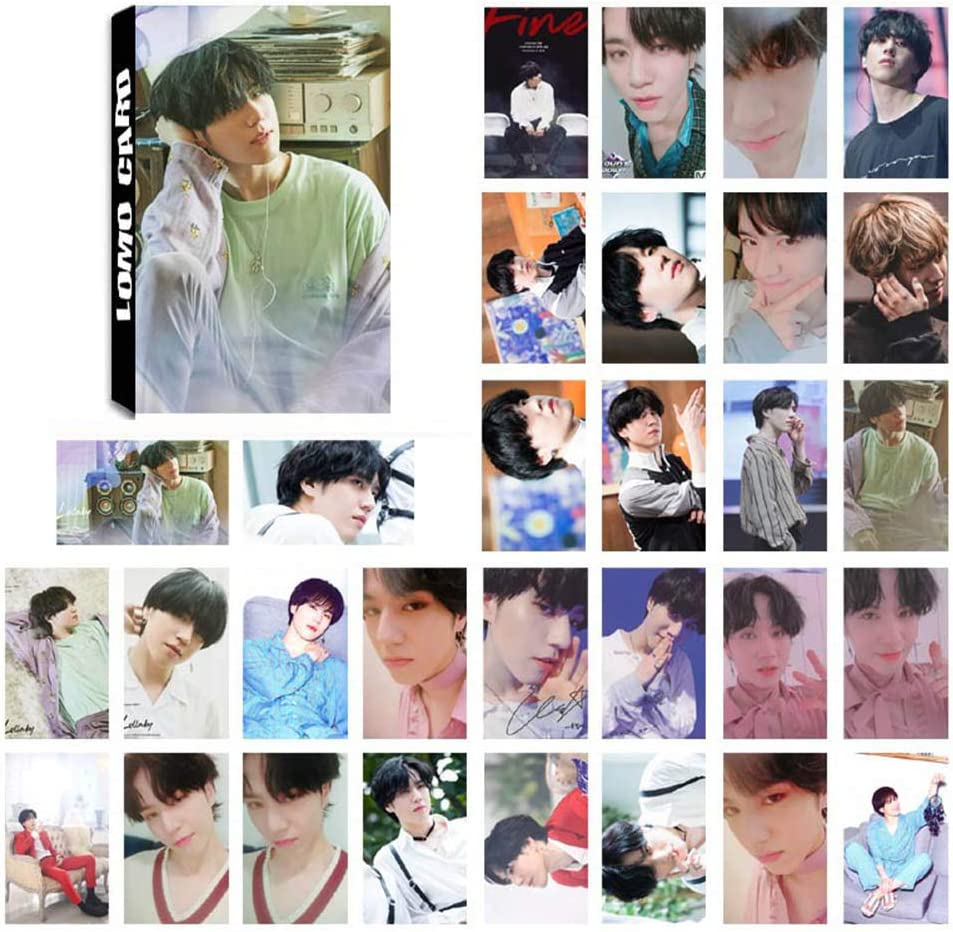 JinYoung Chour/&Euhk 30 Sheets Kpop GOT7 LOMO Card Set Polaroid Photos Official Three-Series Lullaby Same Style HD Pictures Support Small Cards Hot Gift for Fans