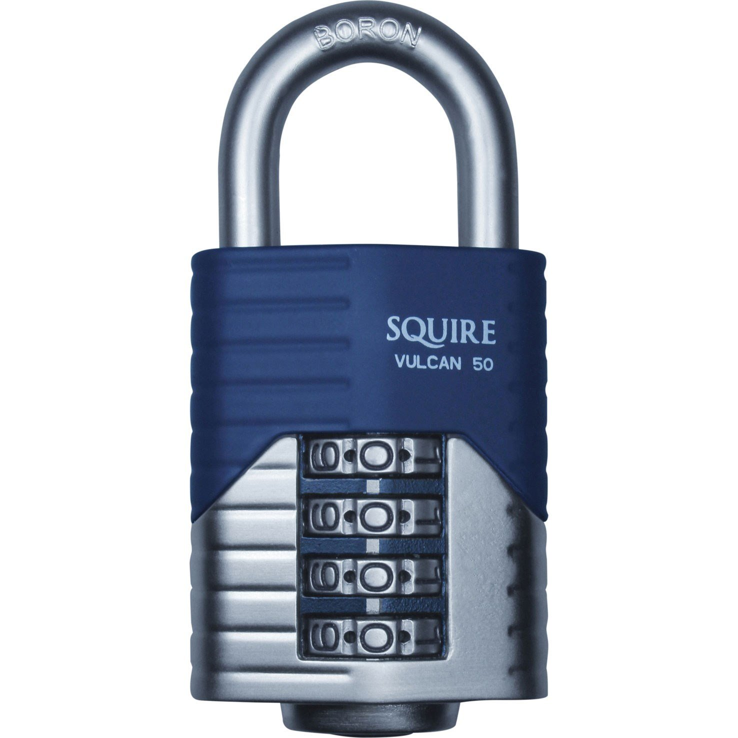 Henry Squire Vulcan 4 Wheel Open Shackle Combination Padlock, 50 mm Length Henry Squire & Sons Ltd. VULCAN COMBI 50