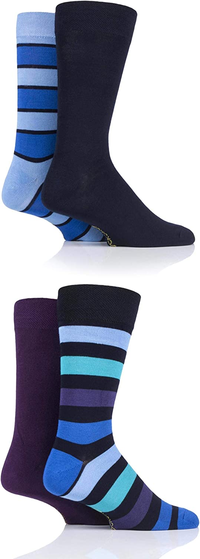 SOCKSHOP Mens Gift Boxed Bamboo Colour Burst Socks Pack of 4