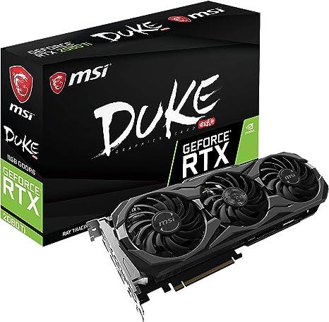 MSI GAMING GeForce RTX 2080 Ti GDRR6 352-bit HDMI/DP/USB Ray Tracing Turing Architecture Graphics Card (RTX 2080 TI DUKE 11G OC)