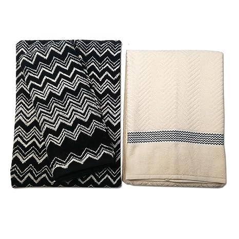 Toallas de Missoni – 1 toalla de mano y 1 toalla de baño Keith Ibo +