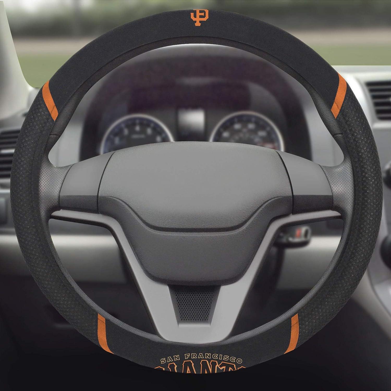 San Francisco Giants Premium Embroidered Black Auto Steering Wheel Cover Baseball Rico Industries Inc