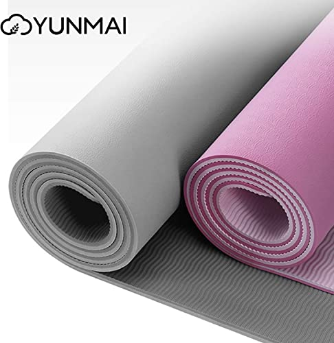 YUNMAI TPE Yoga Mat Premium 6mm Double-Sided Non-Slip High Grip ECO Friendly 183 cm X 61 cm X 0.6 cm
