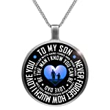 Amazon Price History for:Father Son Necklace To My Son Never Forget How Much I Love You Necklace