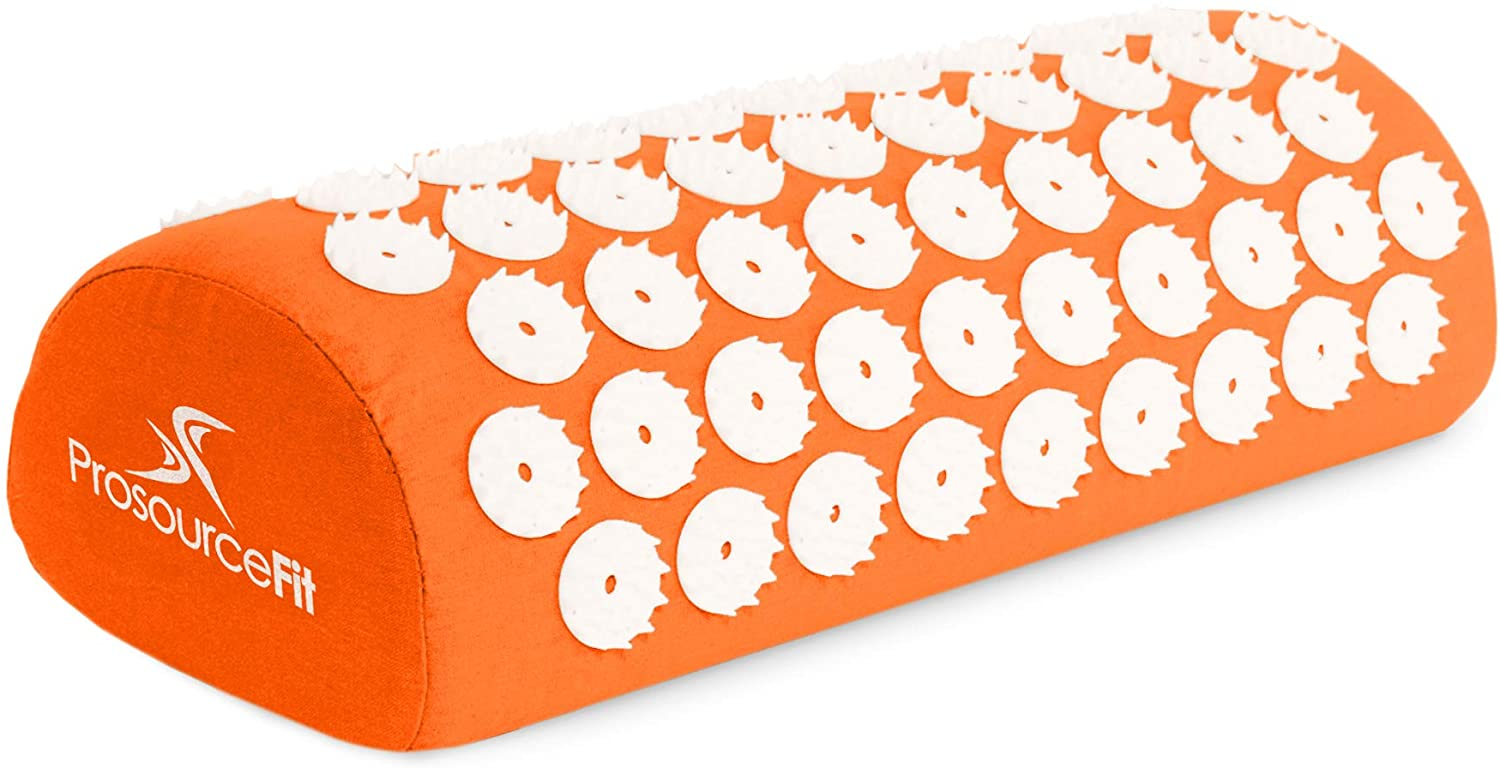 Acupressure Mat and Pillow Set for Back/Neck Pain Relief & Muscle Relaxation - Orange