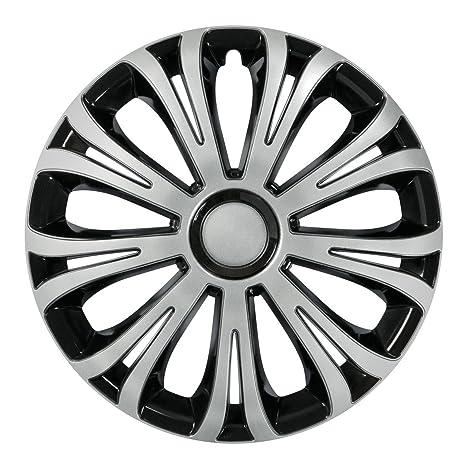 Serie 4 Tapacubos 13 Modelo Avera Silver & Black