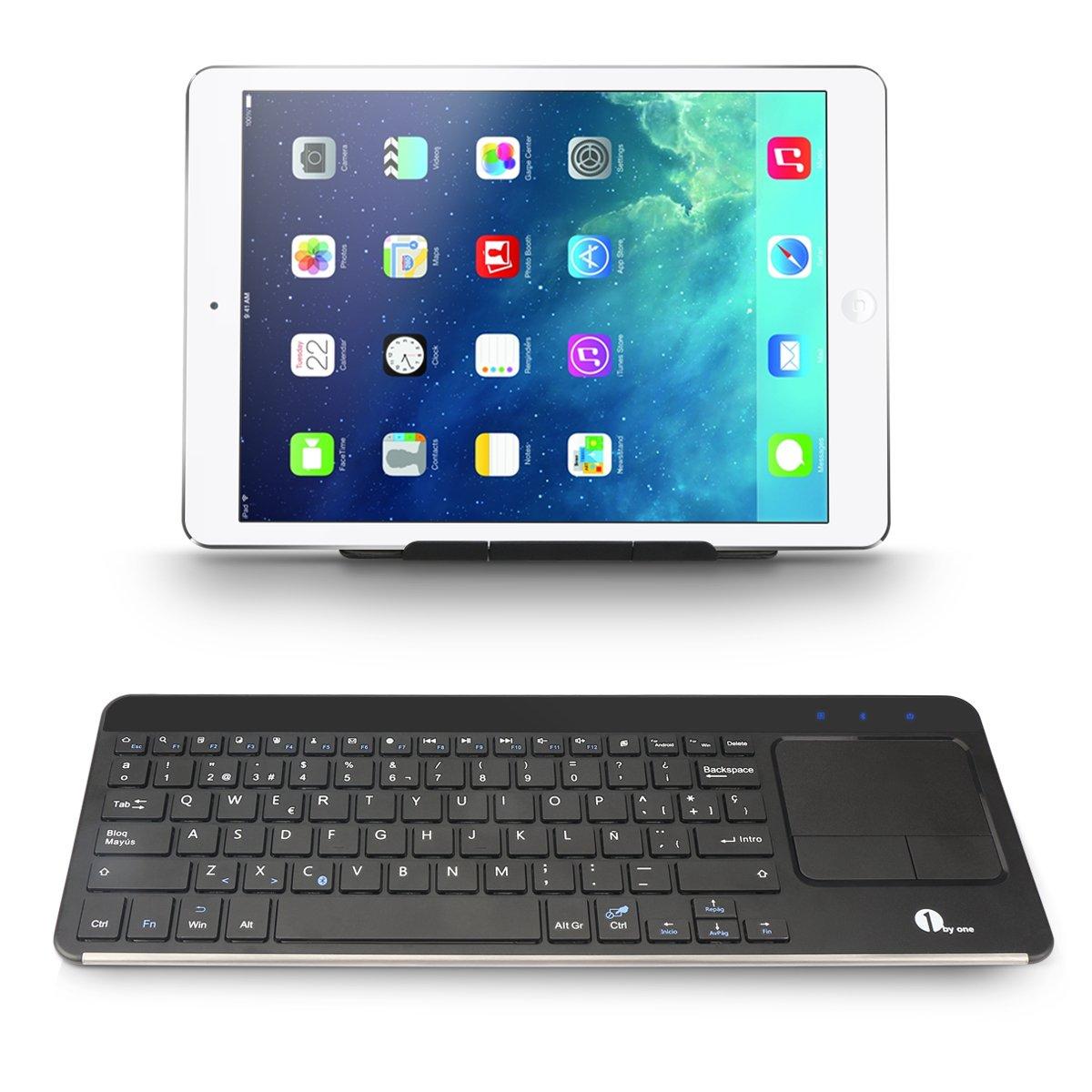 1byone Teclado Inalámbrico con Multi-touchpad (Bluetooth, Windows/Linux/Android OS): Amazon.es: Electrónica