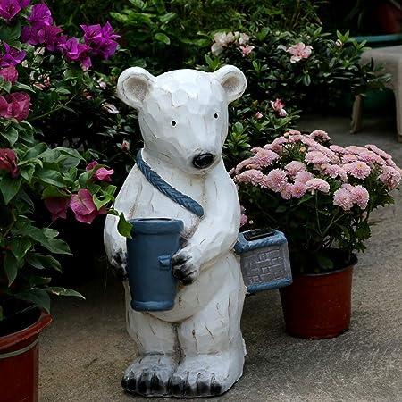 Adornos de Jardín Oso Polar de la decoración del jardín al Aire Libre Patio Ruta Solar