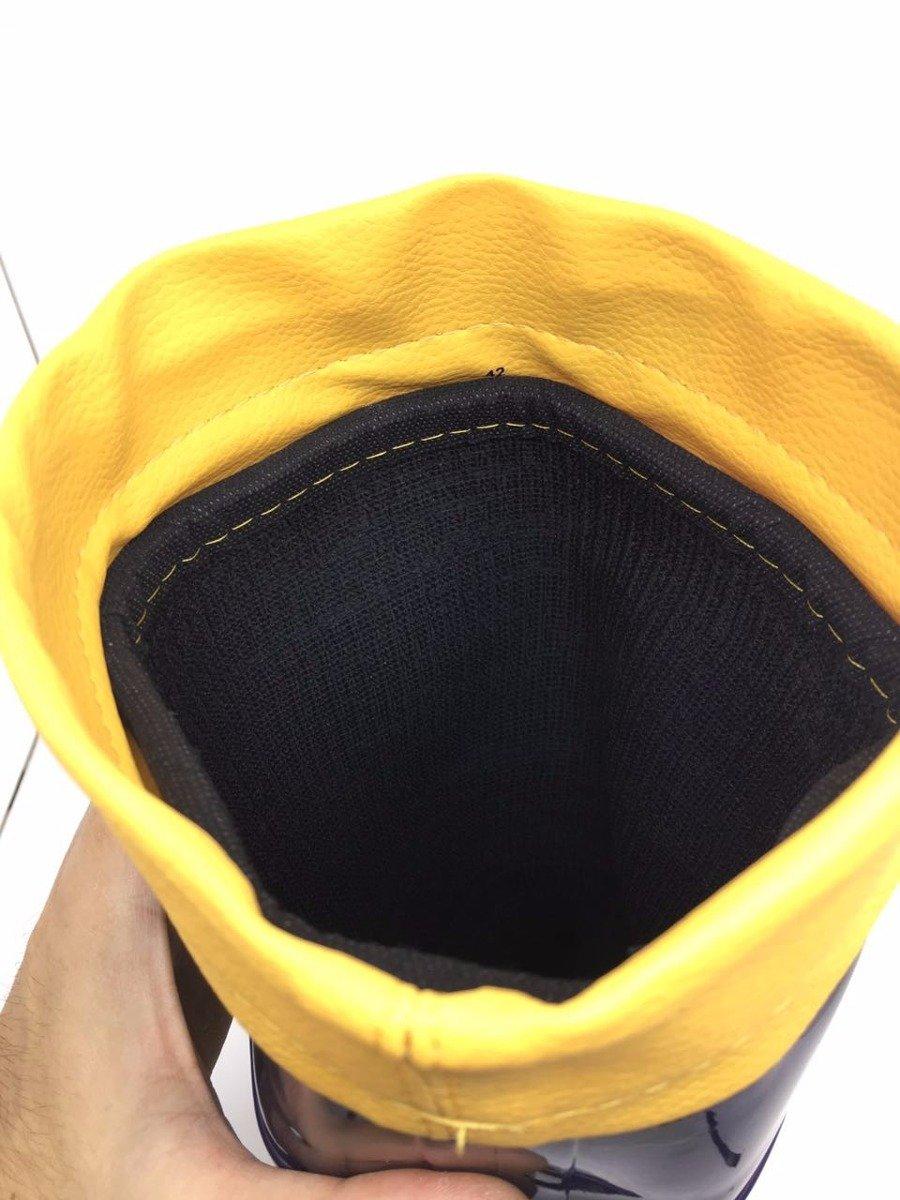 72c4086a1f6 Bota Galocha Borracha PVC Impermeável Azul amarela Com Amarra (46 47)   Amazon.com.br  Ferramentas e Construção