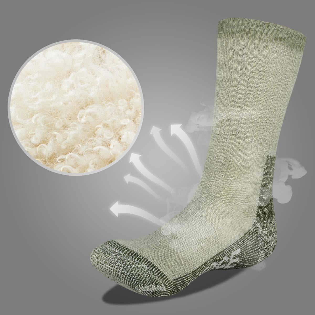 YUEDGE Hombre Calcetines de Lana - Gruesa Suave Cómodo Calcetines de Lana para El Senderismo en Invierno u Otras Actividades al Aire Libre: Amazon.es: ...