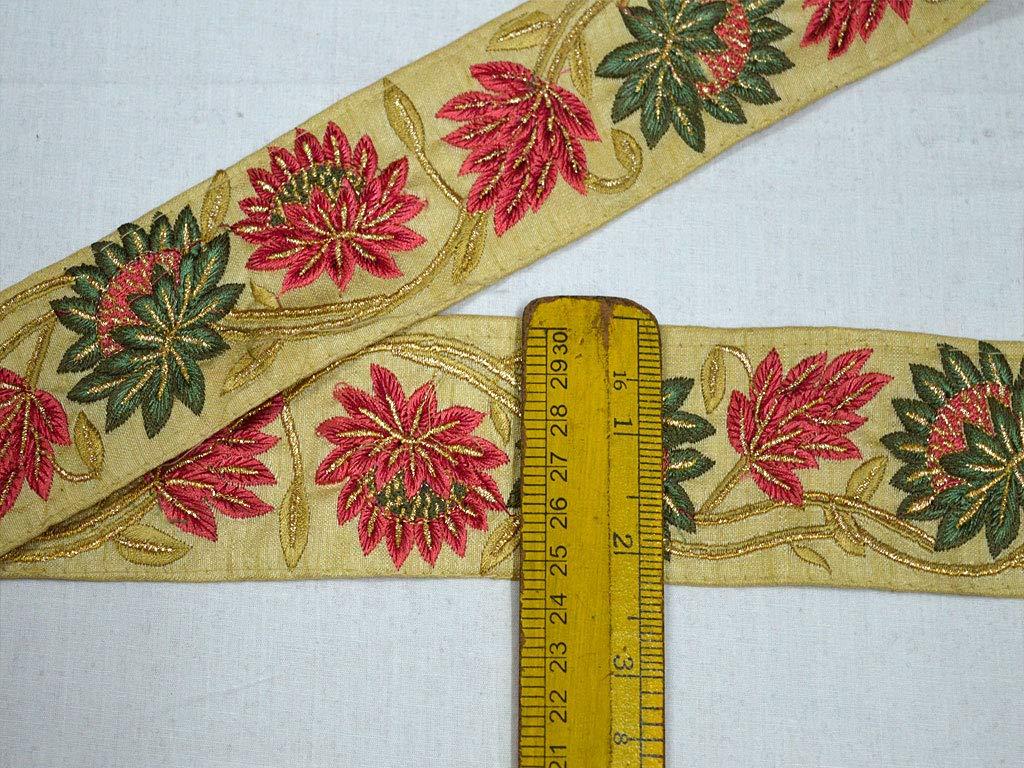 Wholesale Embroidered Indian Sari Border Embellishments Decorative Saree Trims Fabric Trims Crafting Ribbon Trim by 9 Yard Sewing Costume Trim by Indianlacesandfabrics