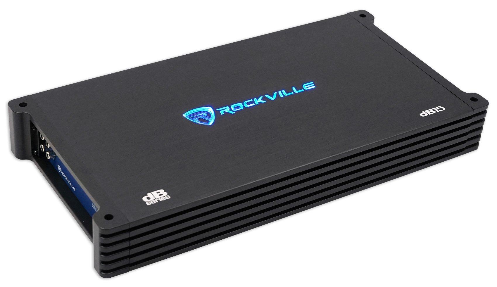 Rockville Db15 6000 Watt 3000w Rms Mono Class D 2 Ohm Amplifier Car Gauge Premium Power Wire Wiring Kit Anl Install Audio Amp Amplifiers Electronics Tibs