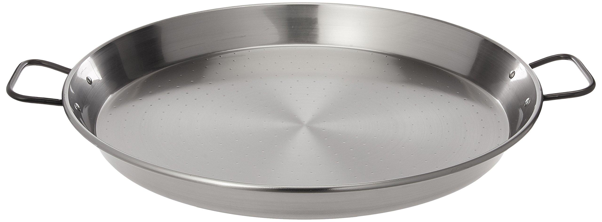 La Paella 18'' Pata Negra Restaurant Grade Paella Pan, Large, Silver