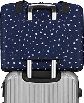 Lightweight Large Capacity Portable Luggage Bag Cute Art Birds Travel Waterproof Foldable Storage Carry Tote Bag