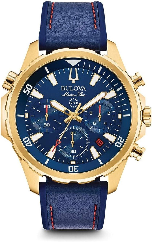 Bulova Reloj Cronógrafo para Hombre de Cuarzo con Correa en Silicona 97B168