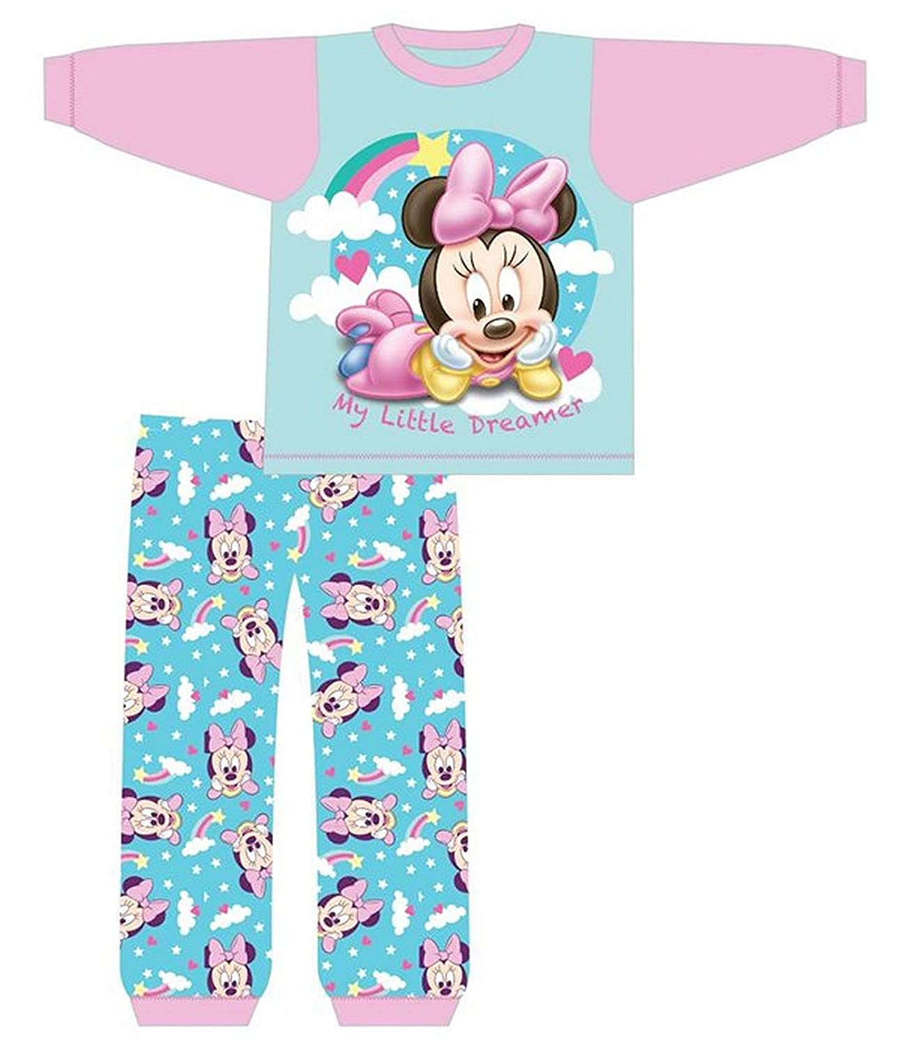 Disney Minnie Mouse Baby Girls Long Pyjamas