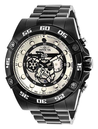 Invicta 26515 Star Wars - Stormtrooper Reloj para Hombre acero inoxidable Cuarzo Esfera blanco