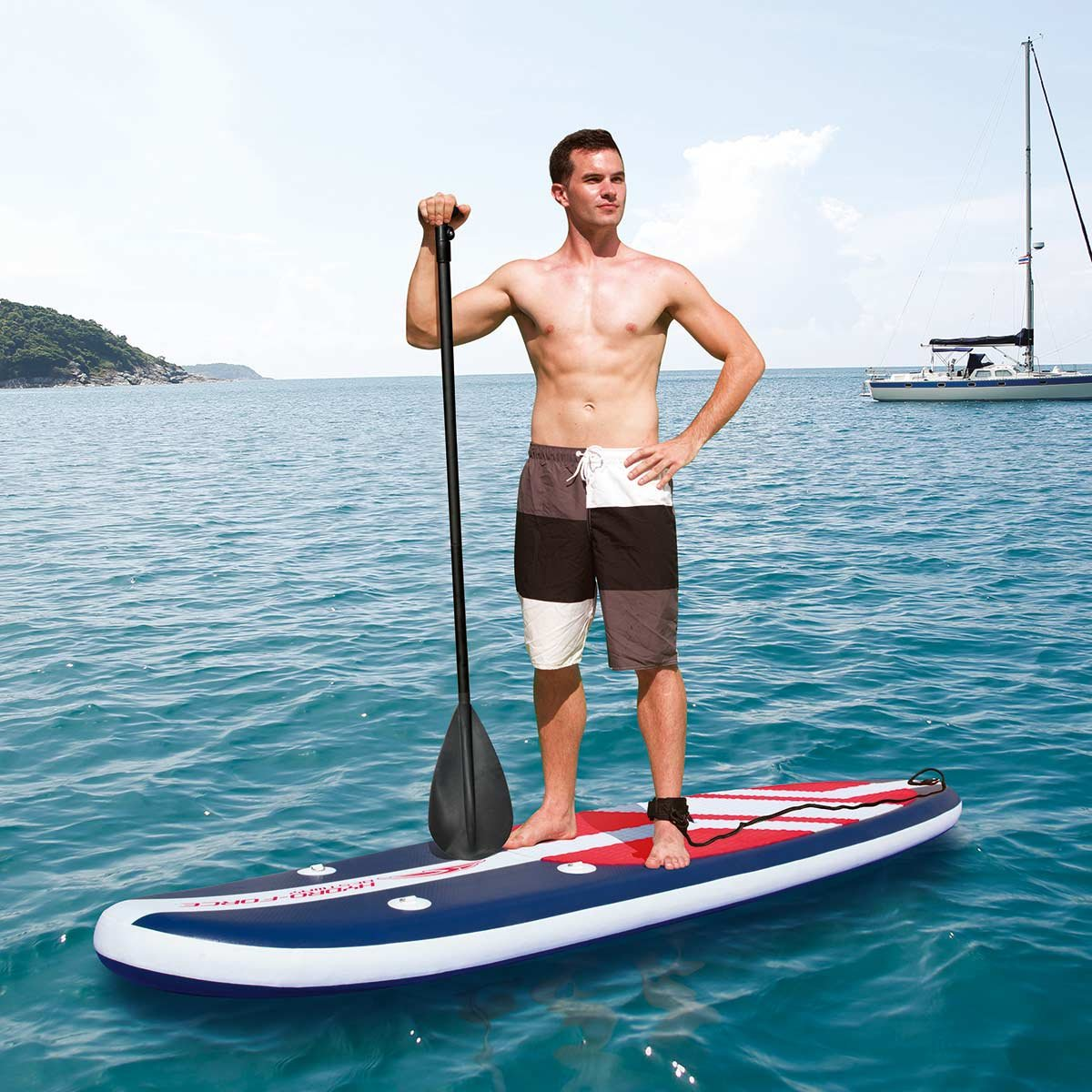 Bestway 65076 - Tabla Paddle Surf Bestway Long Tail SUP (335 x 76 x 15 cm) con remo largo de aluminio, inflador manual y bolsa de transporte: Amazon.es: ...