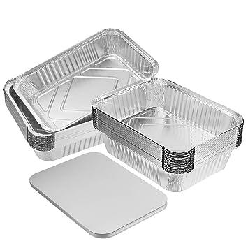BESTONZON 20 piezas de aluminio para hornear Láminas desechables ...