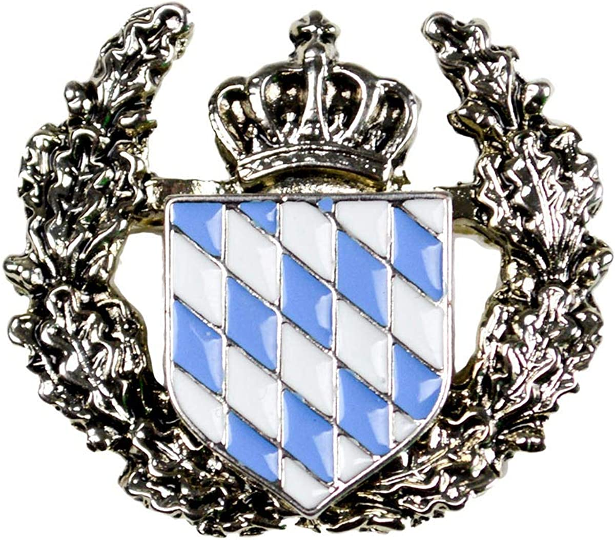 Metal Deluxe Coat of Arms German Bavarian Hat Pin by E.H.G