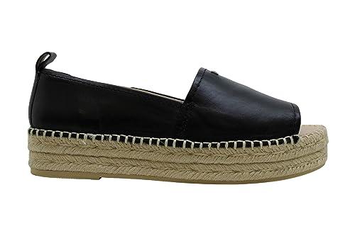Buy DKNY Womens Mer Leather Peep Toe