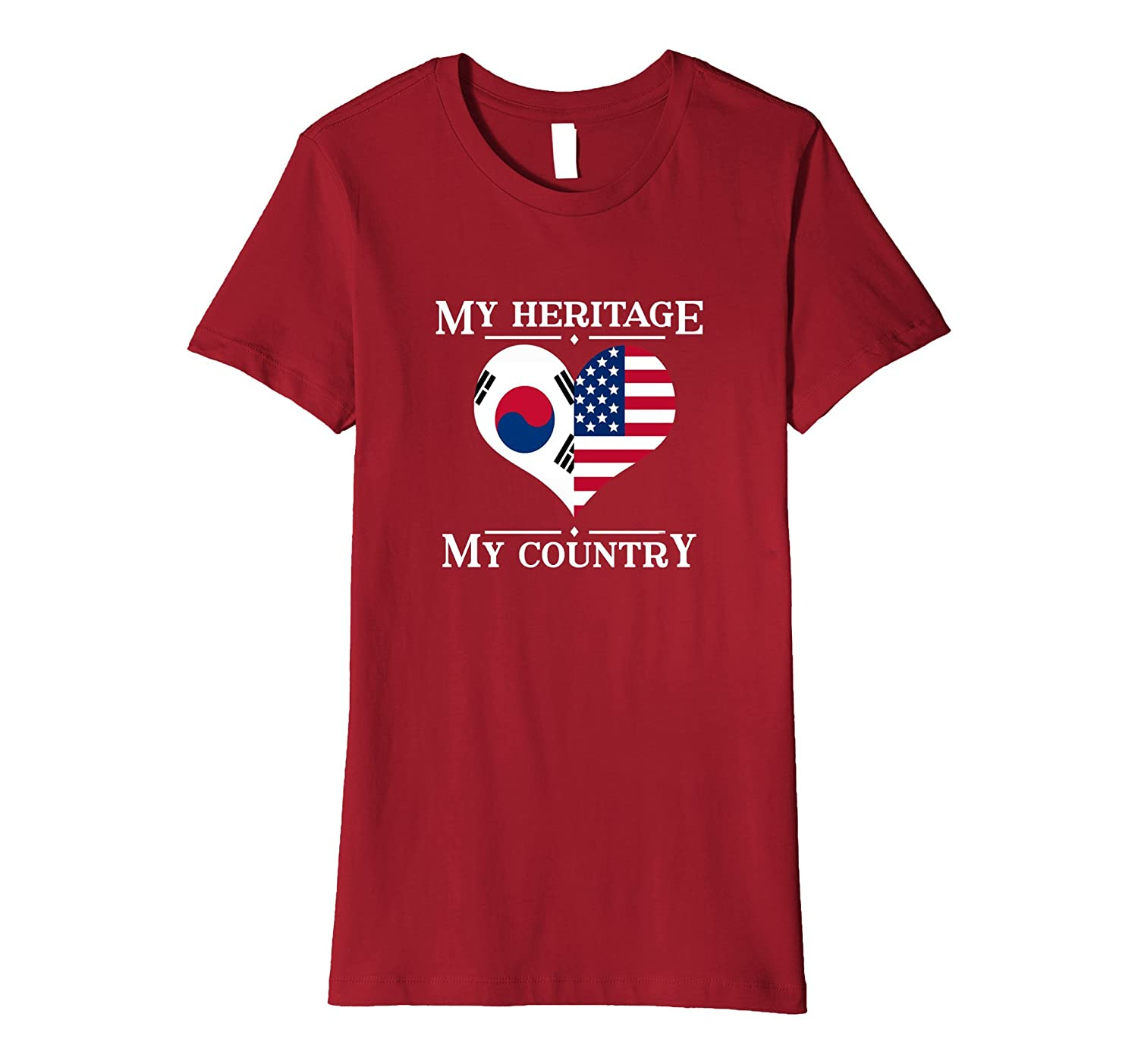 My Heritage My Country T-shirt Proud Korean American Gift